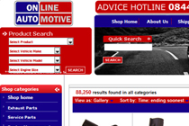 Online Automotive eBay Shop Design
